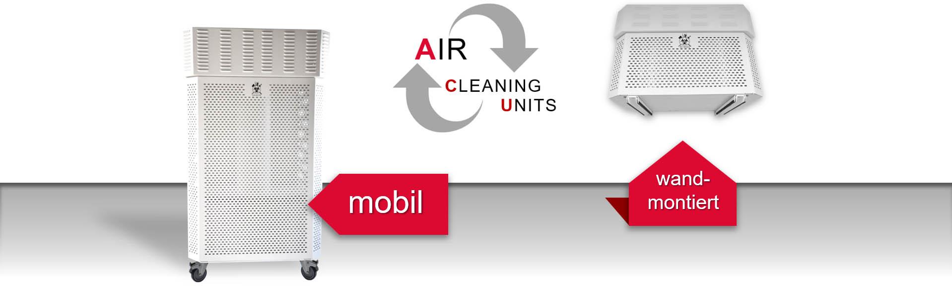 Luftreiniger mobile Version und Wandmontage